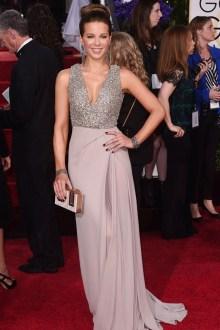 THE GOOD Kate Beckinsale floor-sweeping Ellie Saab gown beaded bodice